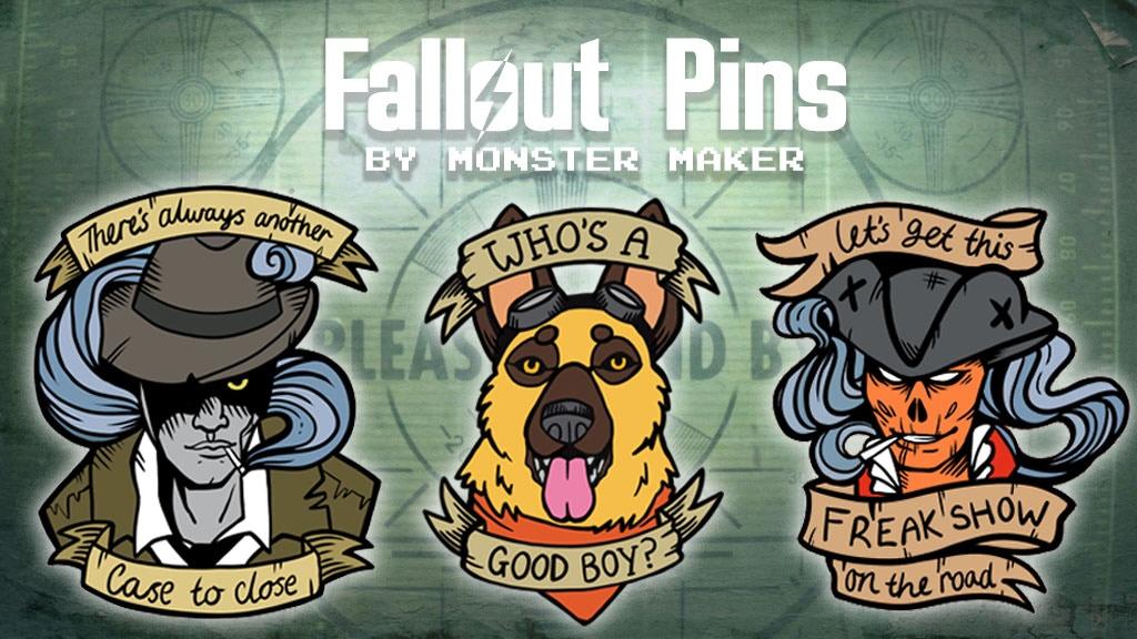 ATOMIC : Fallout Themed Enamel Pins