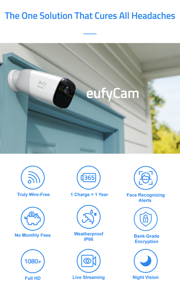Eufycam The Wirefree Security Cam With 365 Day Battery By