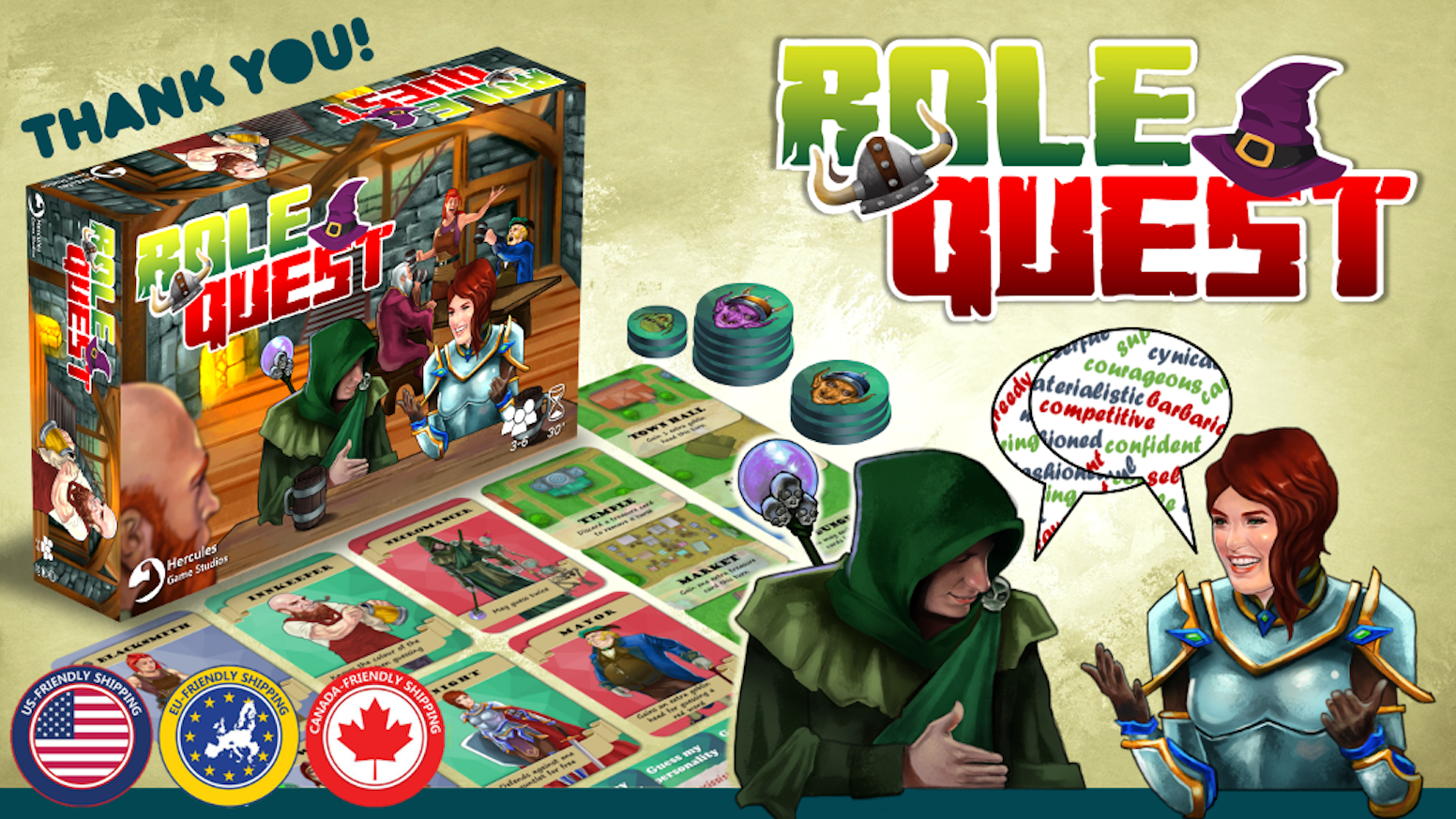 Join our mailing list to be notified when Role Quest is available for pre-order.