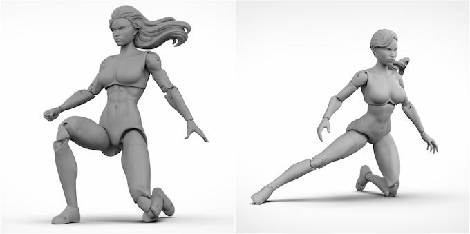Superheroine Tall (left) & Athletic body.