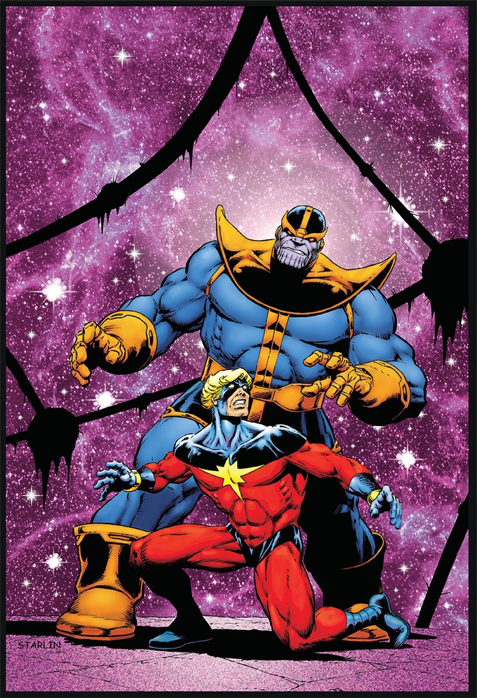 Thanos & Captain Marvel print by Jim Starlin (2nd of 5 prints)