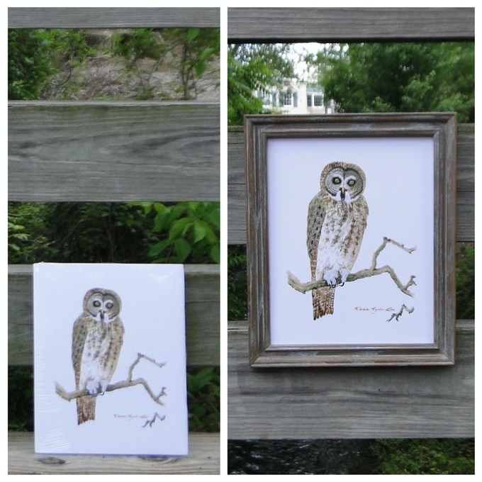 """8x10"""" print by Karen Lee (Left: Print as it will be delivered; Right: Framed as example)"""