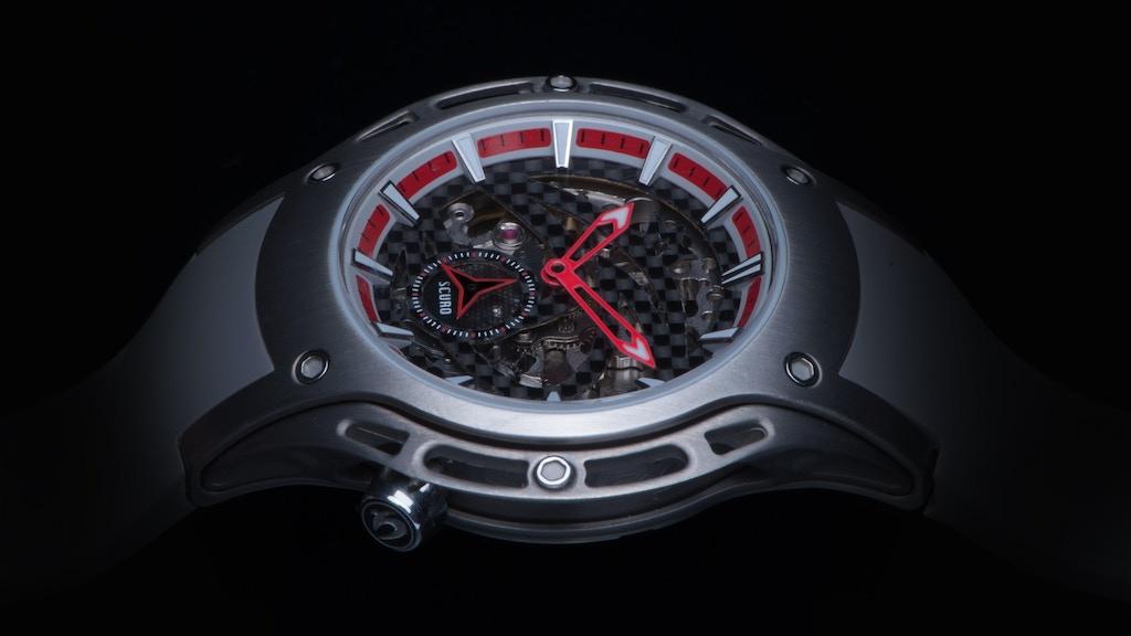A Truly Skeletonized Titanium Sports Watch