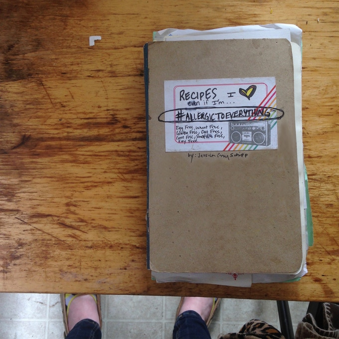 The original cookbook, written in my kitchen over the last six years.