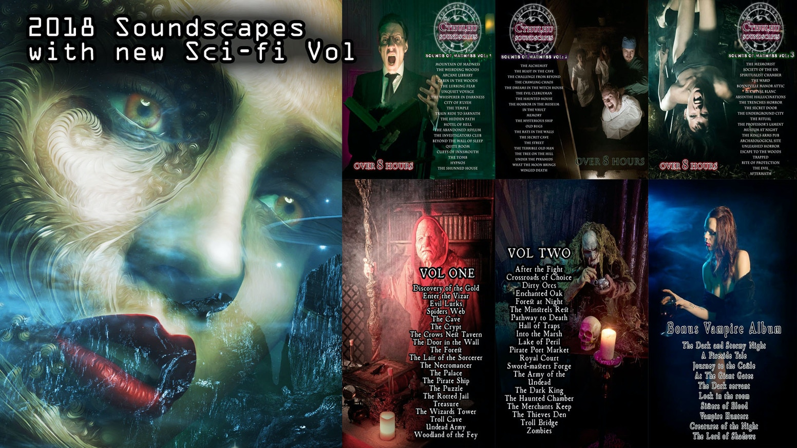 2018 Sci-Fi, Cthulhu Horror & Fantasy Soundscapes by Oliver