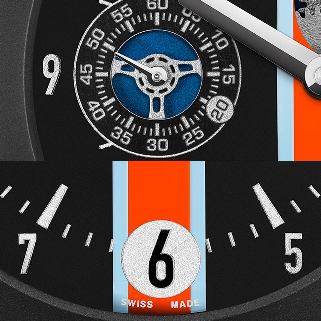 Speedracer details.  As you can see and perceive in the featured photos, the quality, finish and materials meet the highest expectations of the high-end luxury watch industry.
