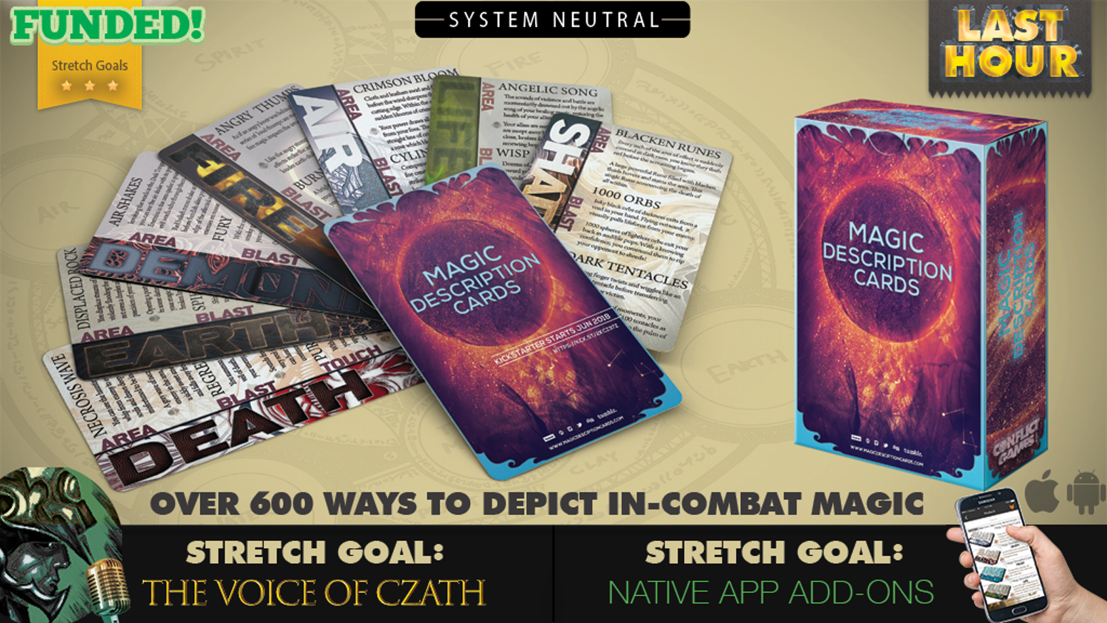Over 100 cards with over 600 System-Neutral phrases to help depict fantasy fiction magic. Designed for writers, storytellers, and GMs.
