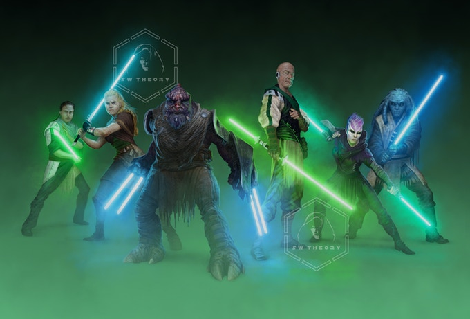 Other Jedi who have come to defeat Vader. Can you spot the padawans?
