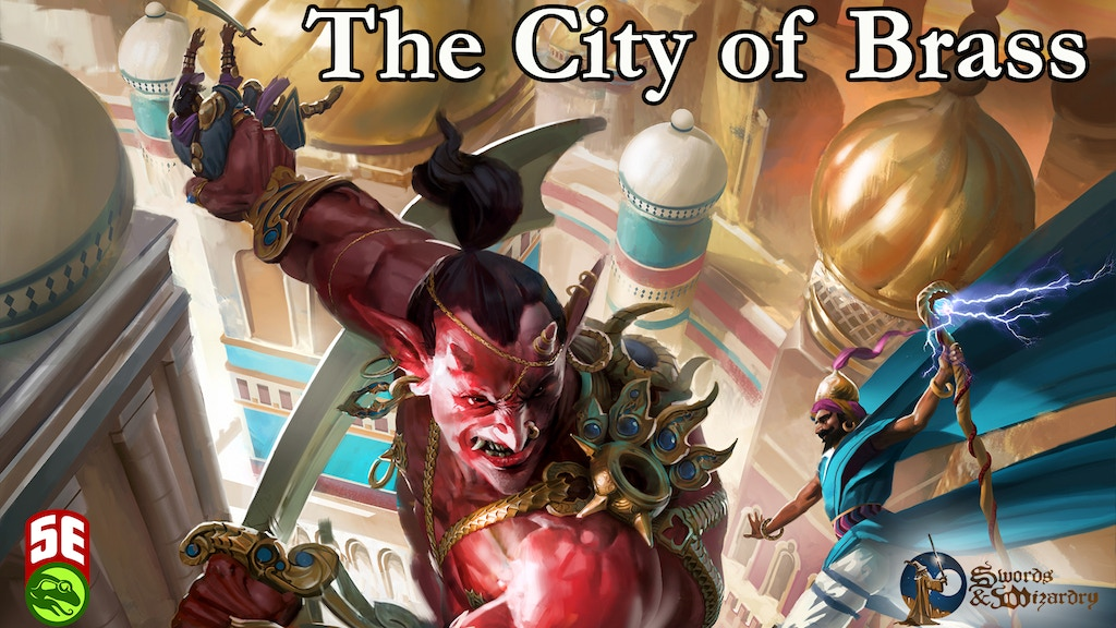 City of Brass: Epic Adventure for 5e and Swords and Wizardry project video thumbnail