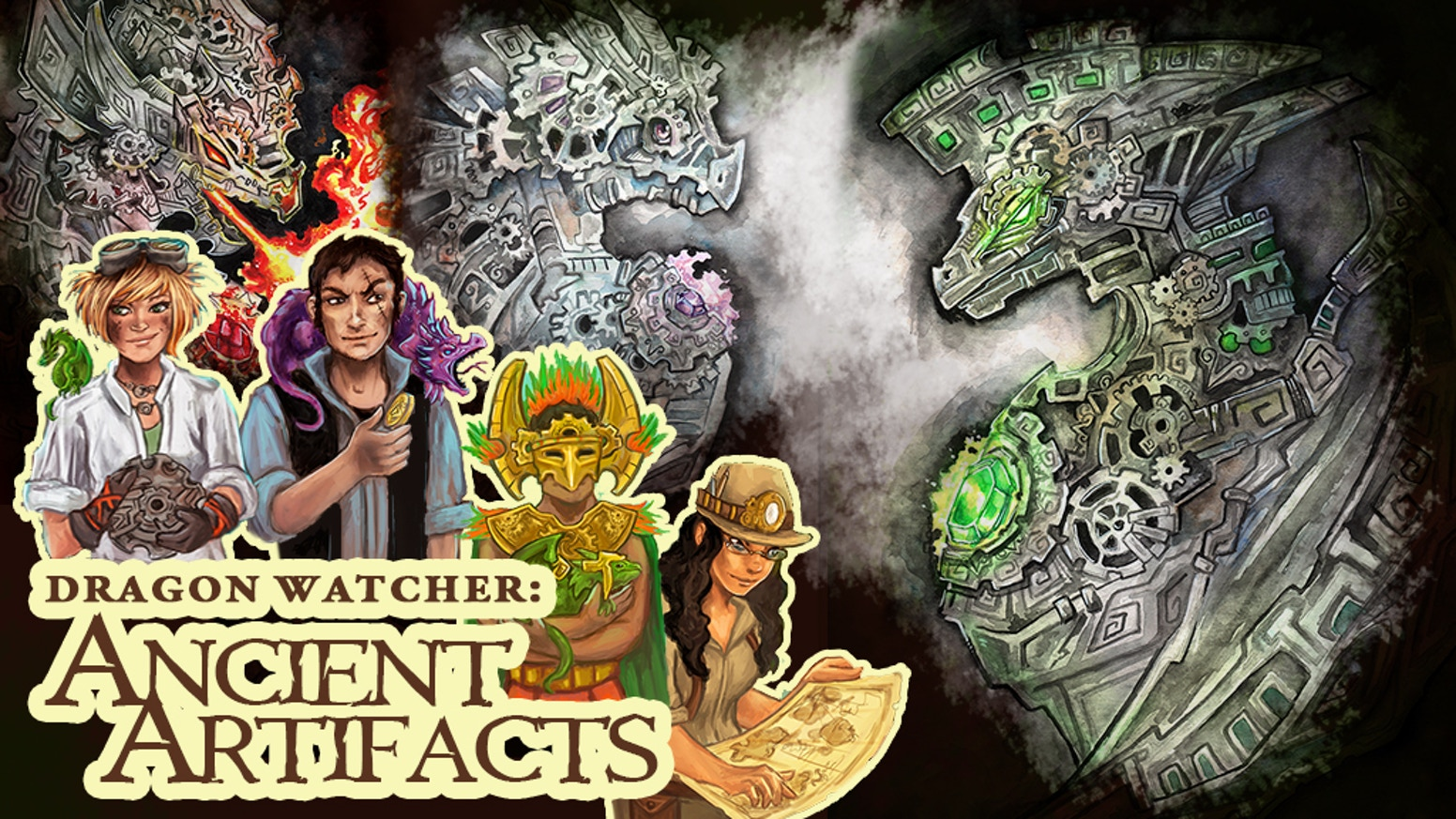 Become a Dragon Watcher with this strategy and collection card game! Discover ancient clockwork dragons and artifacts.