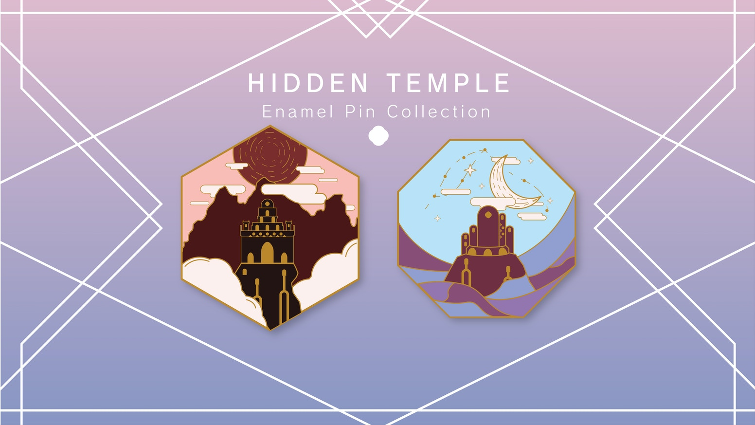 Through forgotten valleys and unexplored oceans these hidden enamel pins are for the adventurer in each of us.