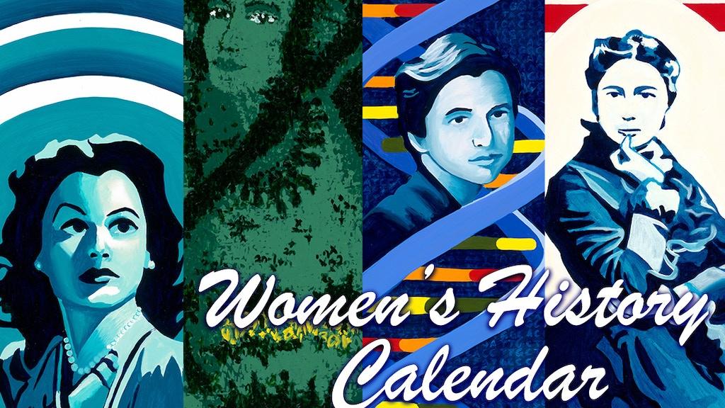 Women's History Calendar 2019 by Bonnie Fillenwarth project video thumbnail