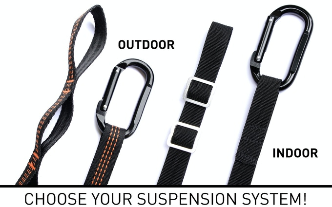 Indoor, outdoor? Choose your suspension system after the end of the campaign in our survey!