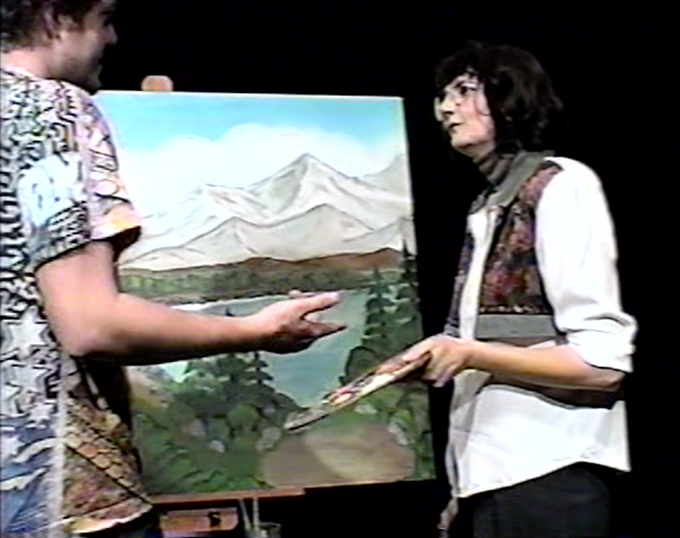 Behind the scenes of Painting with Joan