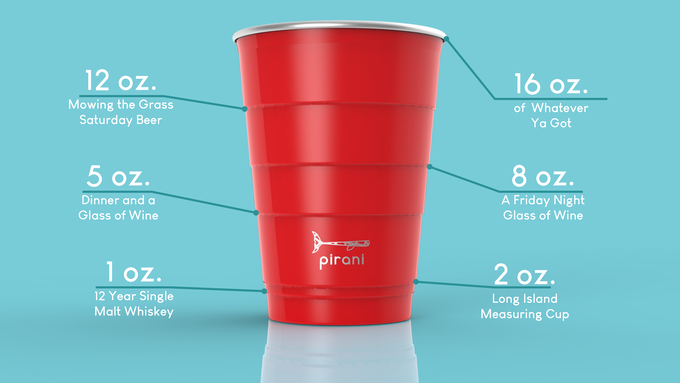 The Pirani Party Tumbler has all your standard pours as originally designed in the 1970's