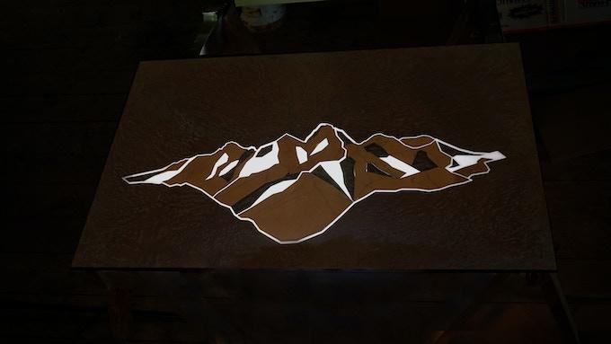The Grand Teton from Lake Solitude in the dark