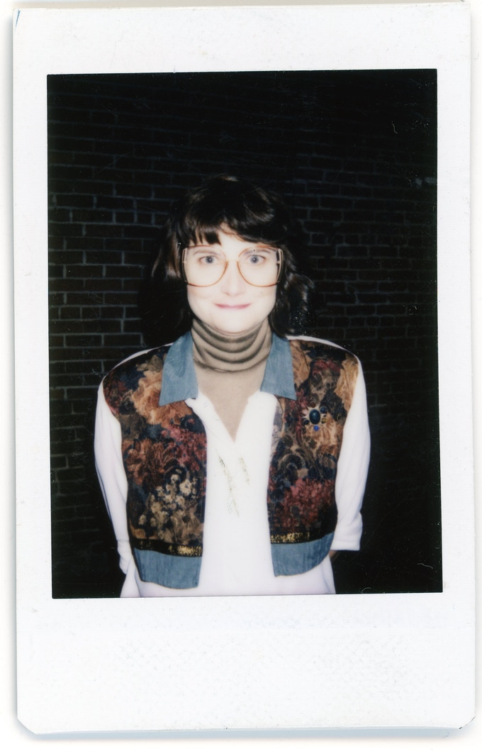 A polaroid from set