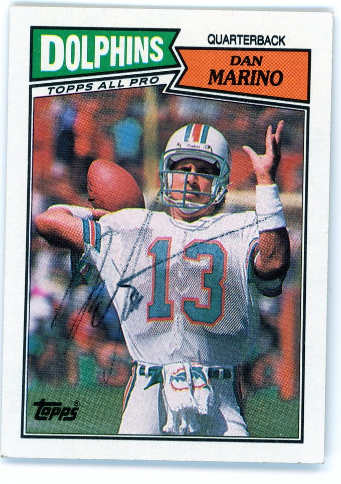 A Trading Card Signed by Dan Marino
