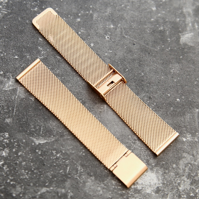 Bracelet maille Milanaise (Mesh) . Rose Gold