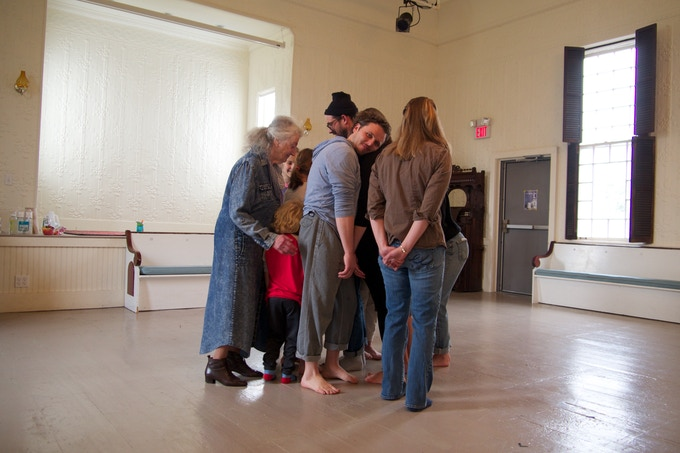 Community members warm-up at Open Workshop Day | photo by Lily Felsenthal