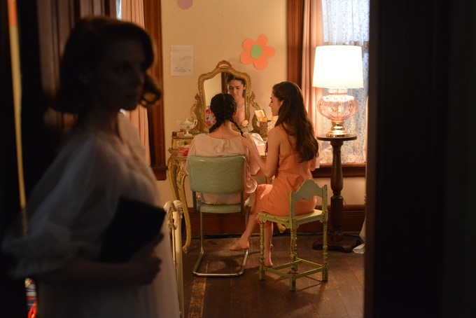 Ashley Bell, Isabelle Fuhrman and Caitlin Carver in The Delta Girl