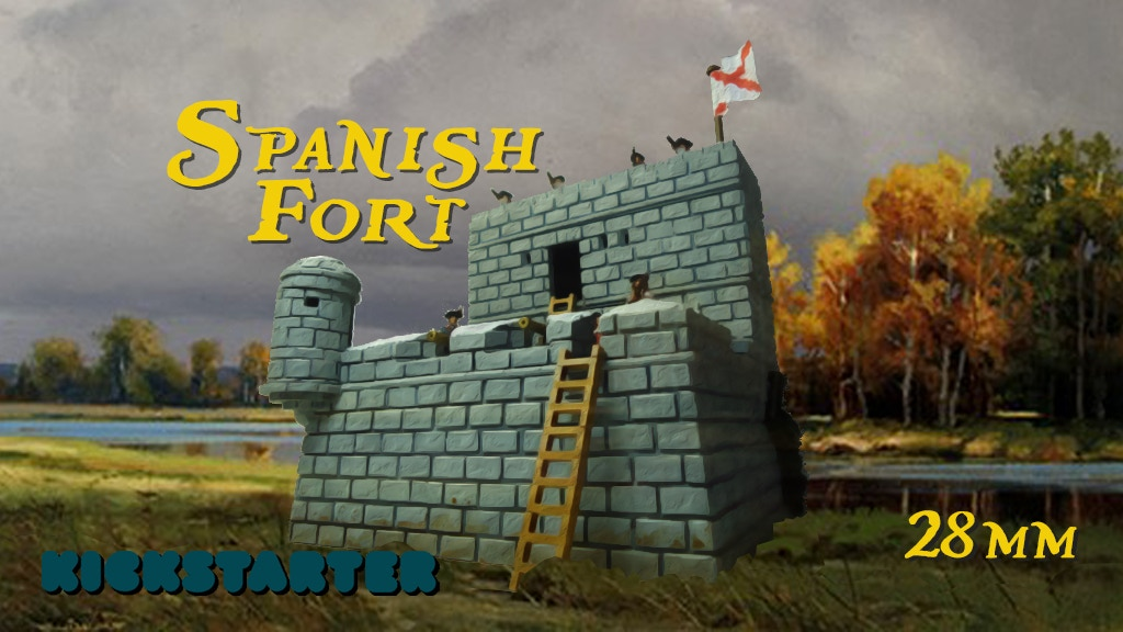 Spanish Fort for 28mm wargaming project video thumbnail