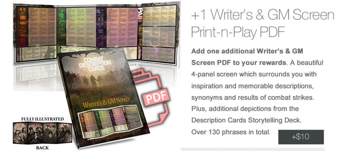 For Full Details on this beautiful Writer's & GM screen, Please Click Here