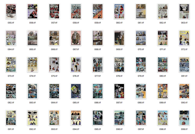 Here's a 100% complete gridview of the story pages!