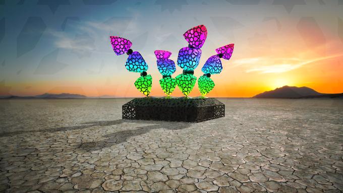 Concept rendering - CROWN at Burning Man
