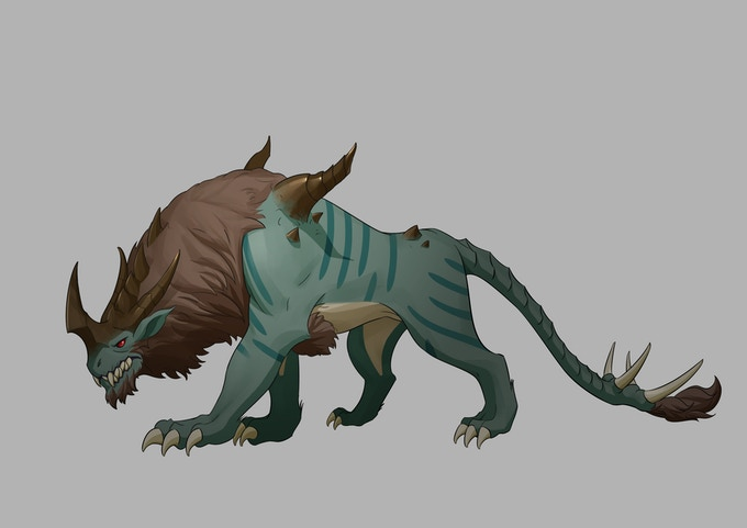 Forest boss concept art (not available in KS demo)