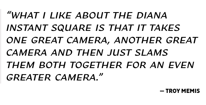 The Diana Instant Square Camera by Lomography — Kickstarter