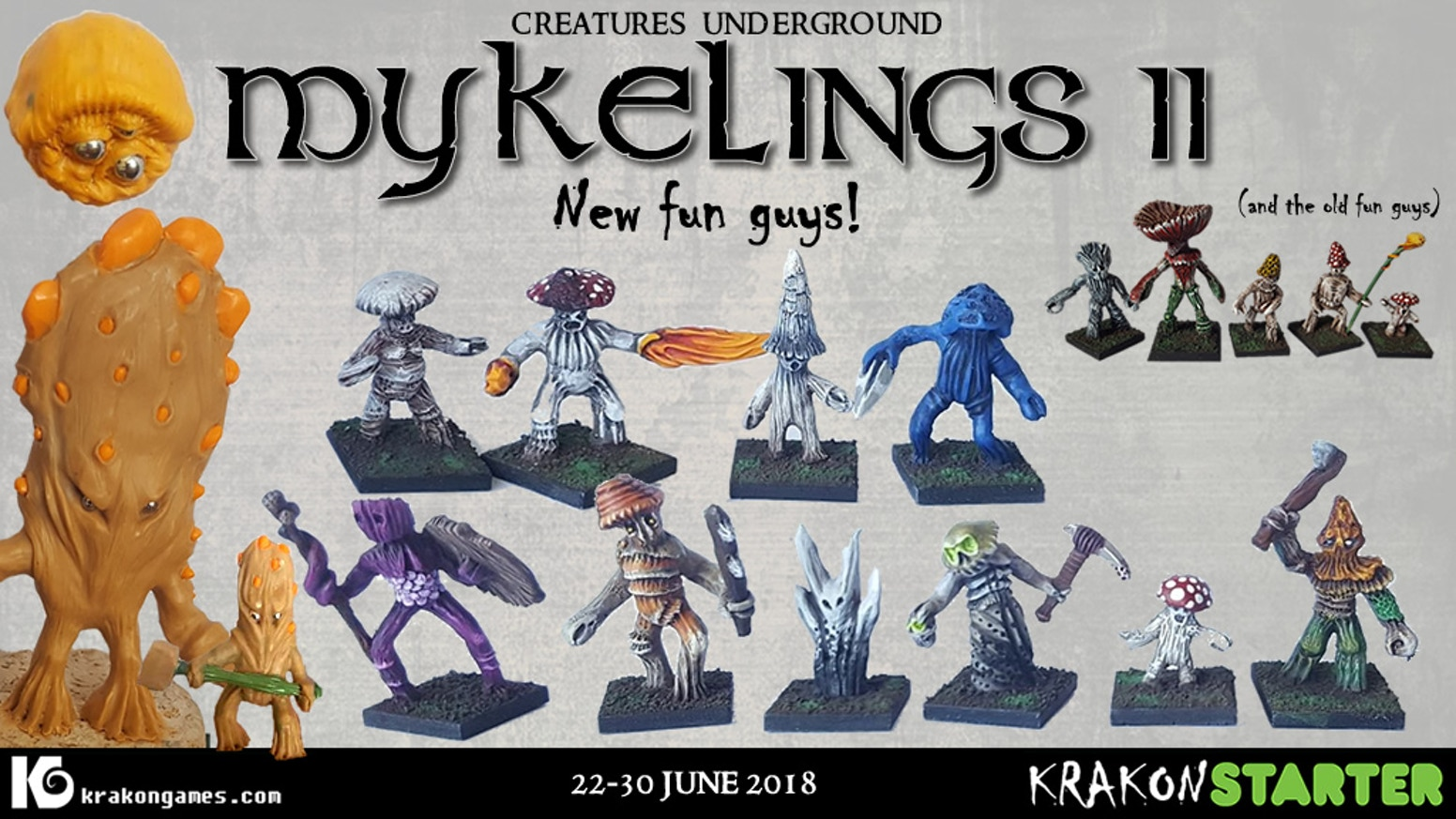 After the success of Mykelings 1, they are back with twice the reinforcements! Lets fund more fug guys.