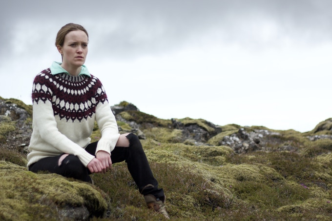 Jaclyn Bethany as Isabella in Iceland, shooting Indigo Valley short Film. Click to watch the teaser for the short.