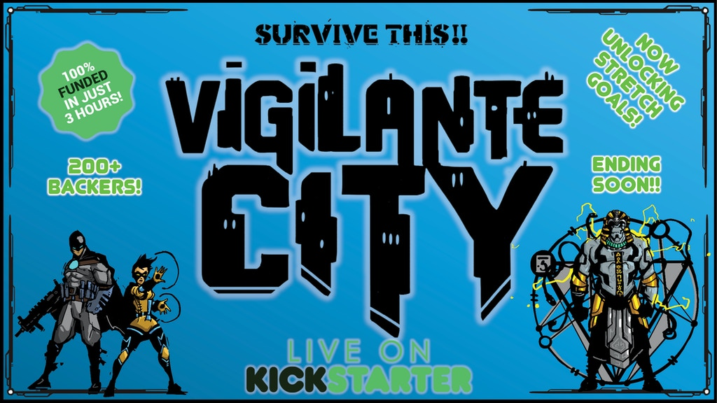 SURVIVE THIS!! Vigilante City Tabletop Roleplaying Game project video thumbnail
