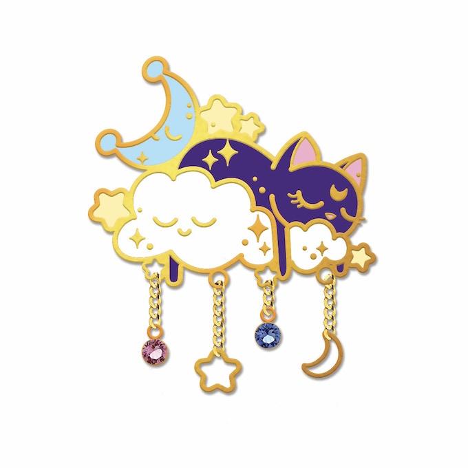 Sleeping Luna Pin Design