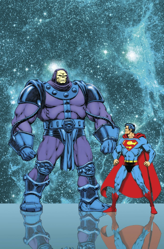 Mongul & Superman print by Jim Starlin (3rd of 5 prints)