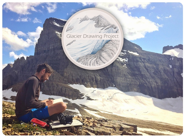 A project to draw every glacier in Montana, USA