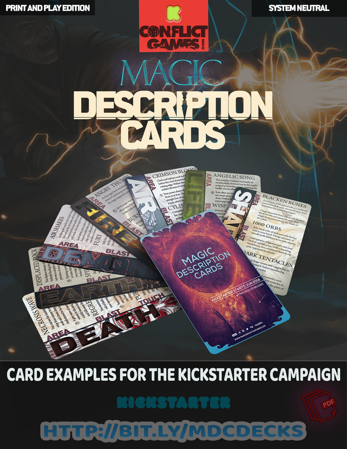 Magic descriptions cards by conflict games – slashing!
