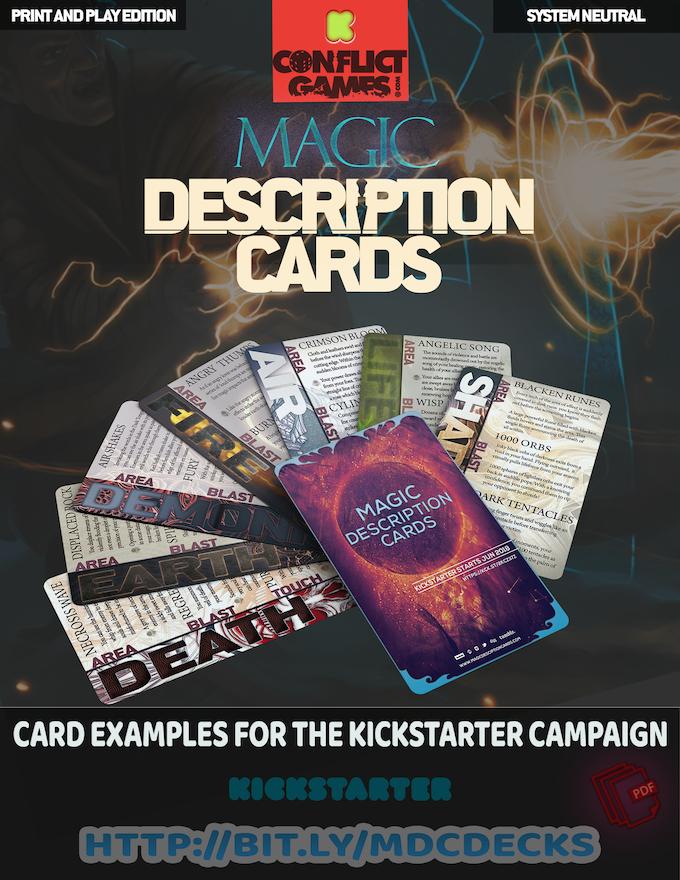 Magic descriptions cards by conflict games – slashing!