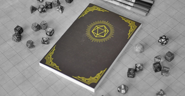 HeroBook is the essential tabletop RPG adventure companion, with a reusable character sheet and note pages, 5E rules, references & tools, all in a deluxe, sustainably sourced, and environmentally friendly notebook.