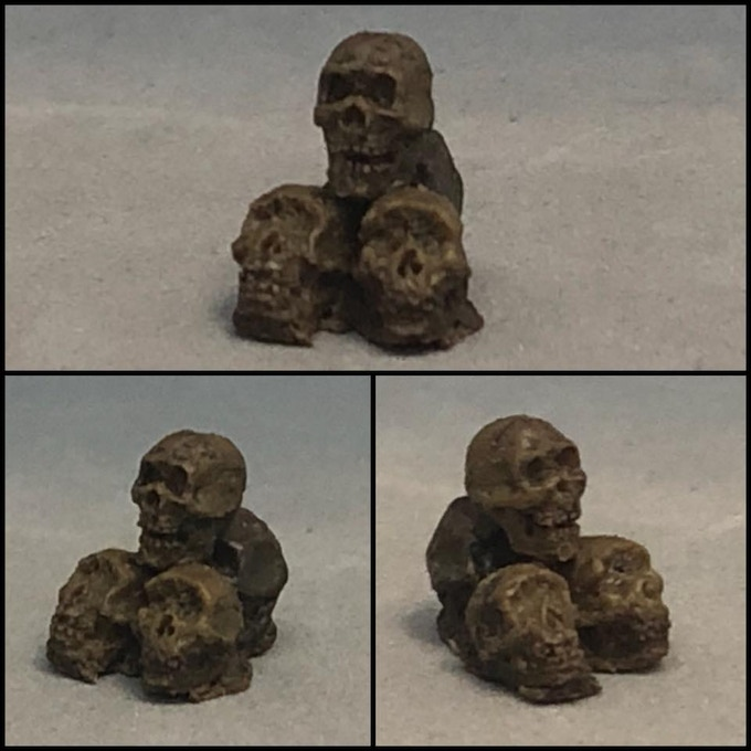 Ritual Sacrifice skulls, sculpted by Dave Cauley