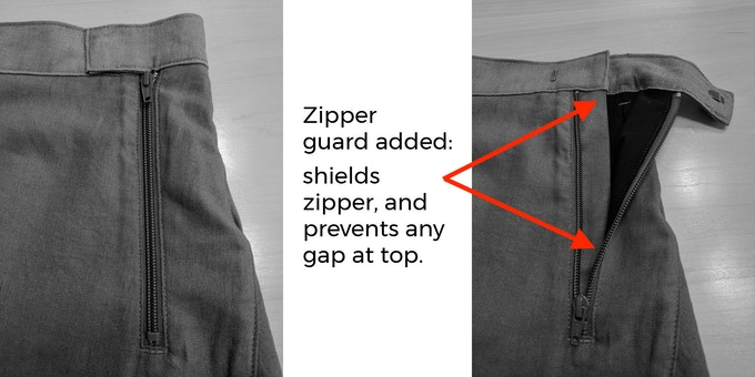 zipper guard