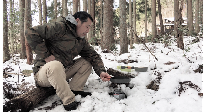 Jun cooking in the Winter Forest