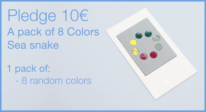 Pledge 10€ - A pack of 8 Leather Webcam Covers. 8 multi-color sea snake. LIMITED EDITION