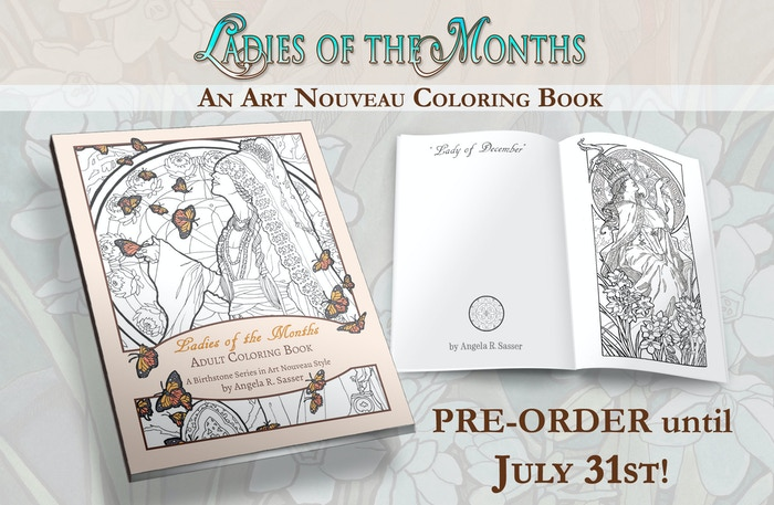 A Coloring Book Inspired By The Birthstones And Flowers For Each Month Of Year Fashioned