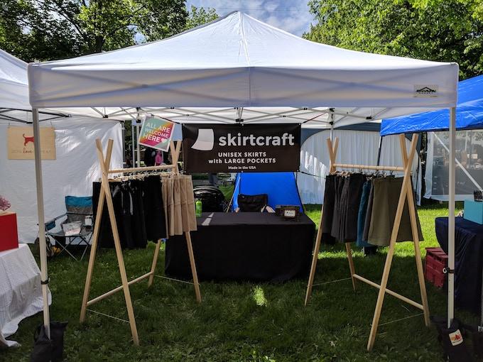Skirtcraft event booth