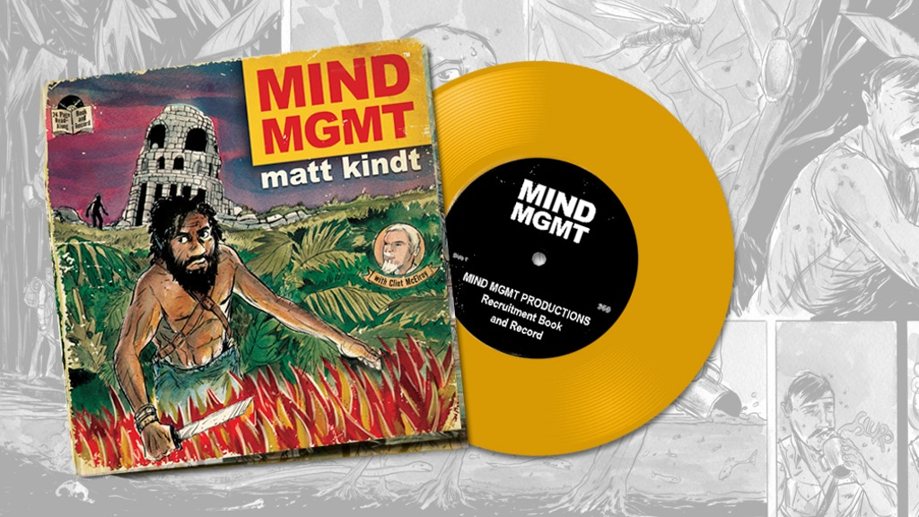 MIND MGMT comic book & read-along vinyl record