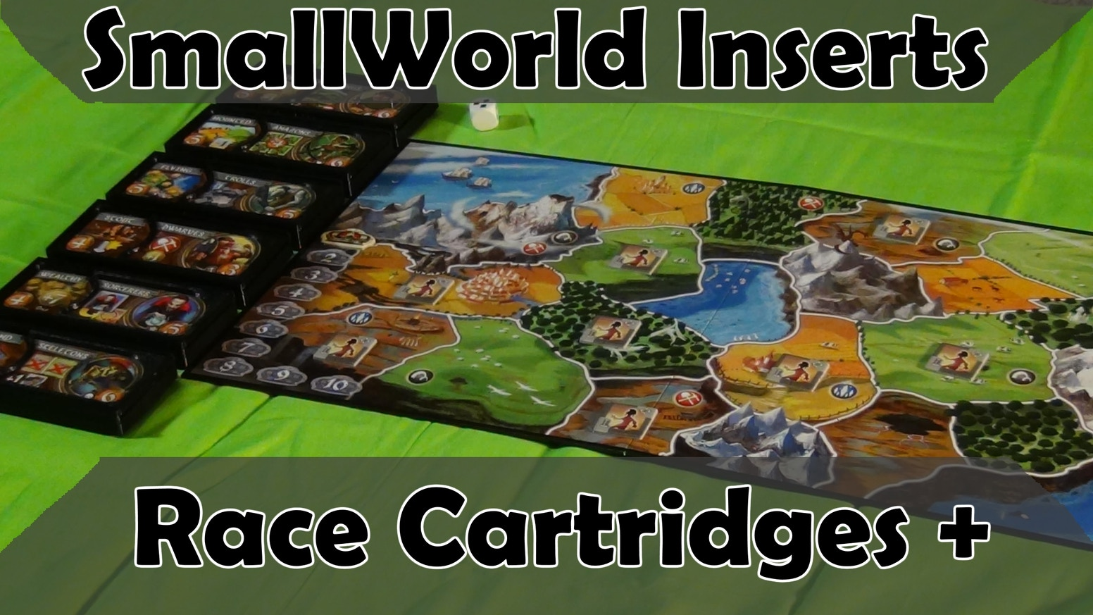 SmallWorld board game inserts unlike any other. Individual cartridges for each race holding the race banner and ALL the tokens for it. Missed the campaign? No worries, stay tuned for the link below leading to where you can purchase them!