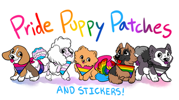 Pride Puppy Patches & Stickers
