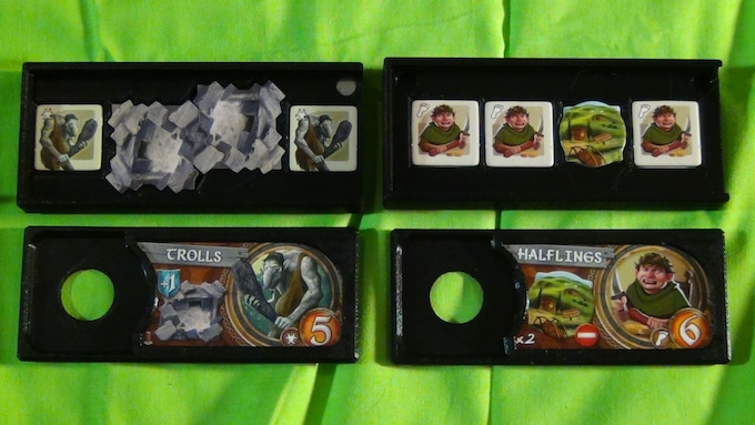 Example of the custom token storage for the Troll Lairs and the Halfling Holes